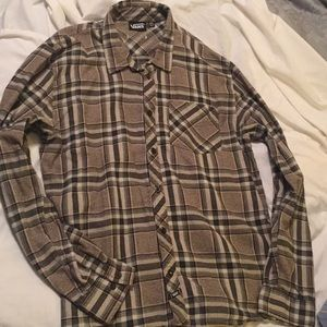 Vans Brown Plaid Flannel Size XXL EUC